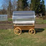 Green Wagon - kasvuhoone ratastel