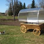 Green Wagon - kasvuhoone ratasel